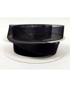 16mm Black Organza Ribbon (030)