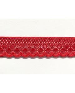 Raschel Lace KTR 170-06 (Red) 10mts