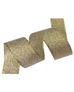 25mm Metallic Ribbon - Gold