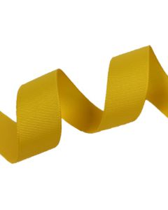25mm Grosgrain Maize Ribbon (650)