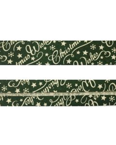 25mm SF Bias Binding - Green Christmas Wishes