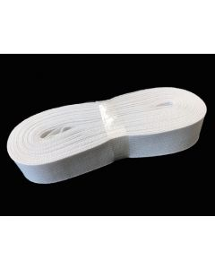 SALE 25mm Heavyweight Knitted Elastic - White (6mtrs)