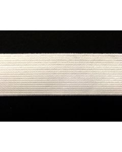 32mm High Density Elastic - White (Non Roll)