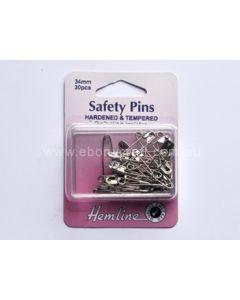 Hemline 34mm Safety Pins (C)
