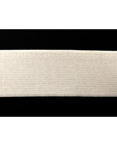 38mm High Density Elastic - White (Non Roll)