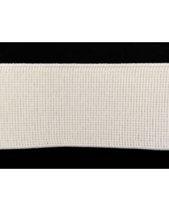 50mm Ribbed Elastic - White (Non Roll)