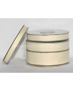 9mm Grosgrain Antique White Ribbon (028)
