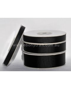 6mm Grosgrain Black Ribbon (030)
