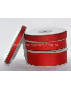 25mm Grosgrain Red Ribbon (250)