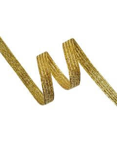 6mm Braided Elastic - Metallic Gold