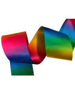75mm Double Sided Satin Rainbow Ribbon