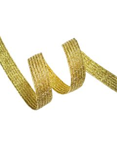 9mm Braided Elastic - Metallic Gold