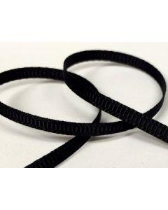 3mm Grosgrain Black Ribbon (030)