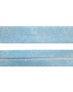 25mm SF Bias Binding- Blue Paisley