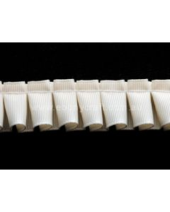 25mm Box Pleating Grosgrain Ivory