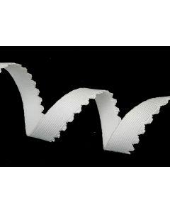 Woven Picot Edge (Bra) Elastic - White