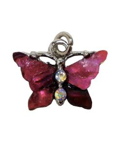 Butterfly Charm - Pink Shell