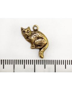 Gold Cat Charm - Left Right Facing
