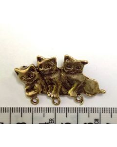 Gold Cat Charm/Brooch- Large