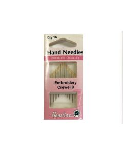 Hemline Embroidery Crewel Hand Needles Size 9 - GOLD EYE (E)
