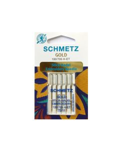 SCHMETZ  Gold Embroidery Machine Needles - Size 75