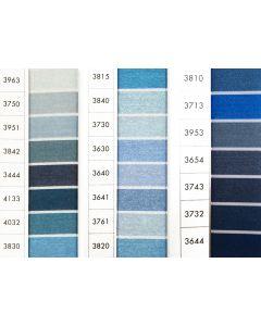 ISACORD 40 - Light Blues/Greys (Row 8) 1000mt