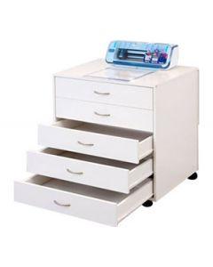 Horn Modular 5 Drawer Cabinet - White
