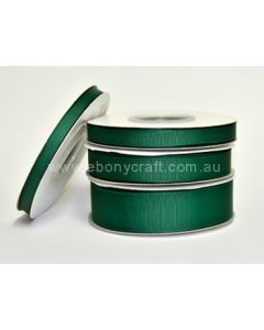 25mm Grosgrain Forest Green Ribbon (587)
