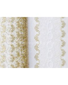 Gold Eyelet lace L21L