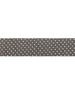 25mm Double Folded Bias Binding - Micro Dot (Grey)