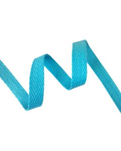 12mm Herringbone Tape (Cotton) - Aqua