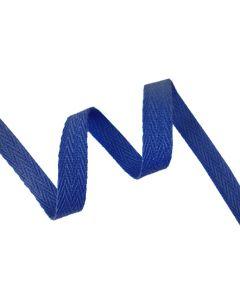 12mm Herringbone Tape (Cotton) - Royal Blue