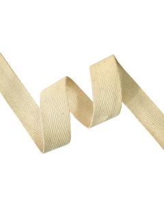 20mm Herringbone Tape (Cotton) - Natural Seeded