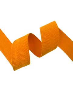 25mm Herringbone Tape (Cotton) - Light Orange