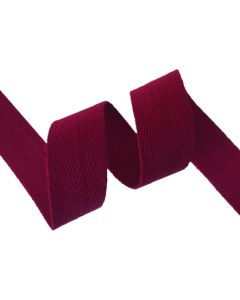 25mm Herringbone Tape (Cotton) - Maroon