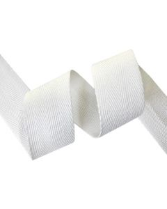 32mm Herringbone Tape (Cotton) - White
