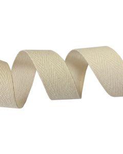 25mm Herringbone Tape (Cotton) - Natural