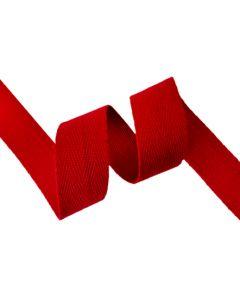 25mm Herringbone Tape (Cotton) - Red