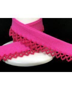 Plain Picot Bias Binding - Hot Pink