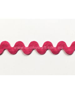 Ric Rac 3/4 inch (17mm) - Bright Pink