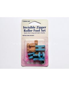 Hemline Invisible Zipper Roller Foot Set (N)