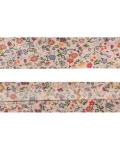 25mm SF Bias Binding - Liberty Cotton English Garden (Pink)