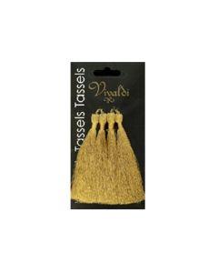 8.5cm Rayon Tassel -  Metallic Gold