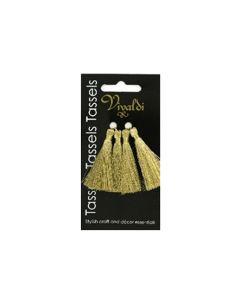 5cm Rayon Tassel -  Metallic Gold