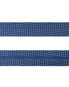 25mm SF Bias Binding - Micro Dot (Blue)