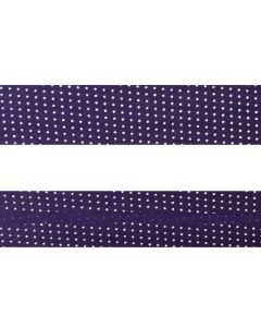 25mm SF Bias Binding - Micro Dot (Purple)