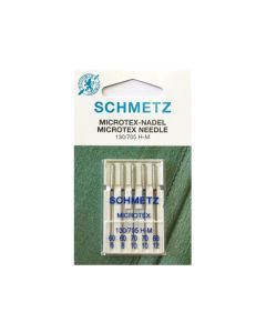 SCHMETZ  Microtex Machine Needles - Size Mix 60-80