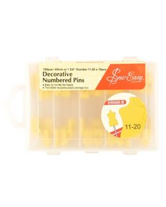 Sew Easy Decorative Numbered Pins 11-20