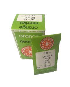 Orange Industrial Needles - DP x 17 21/130