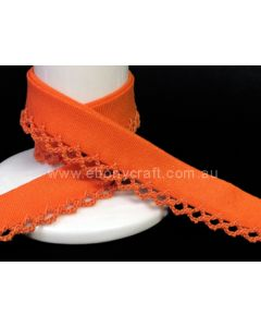 Plain Crochet Bias Binding - Orange